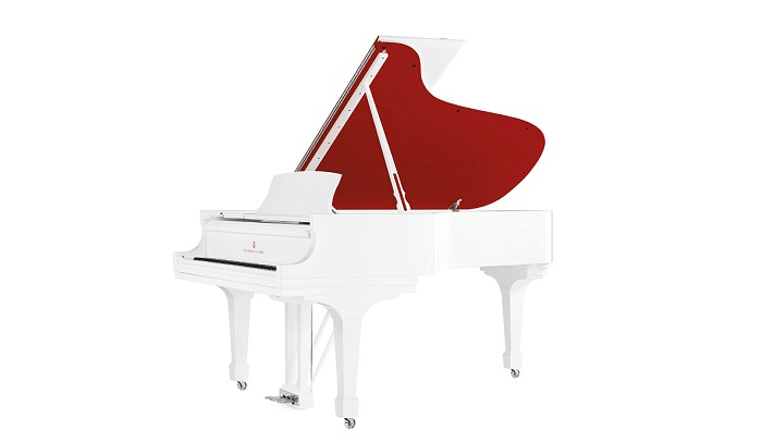 """Red Pops for (RED)"" Parlor Grand Piano, Steinway & Sons"