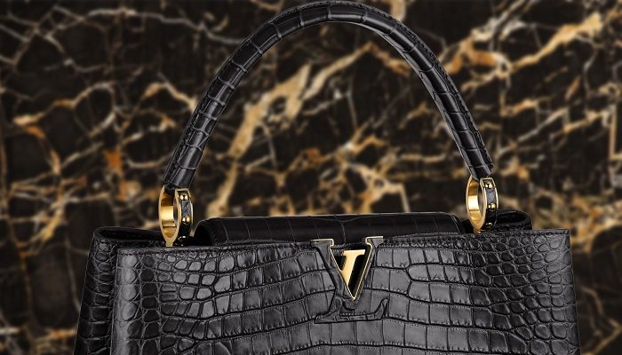 Crocodile Louis Vuitton Capucines MM Çanta