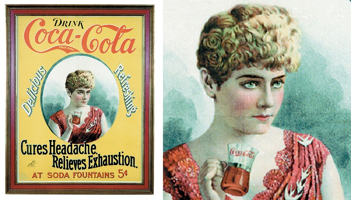 Coca Cola Cameo Paper Sign