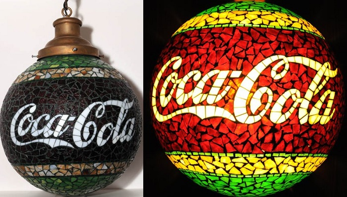 Coca Cola Early Glass Globe