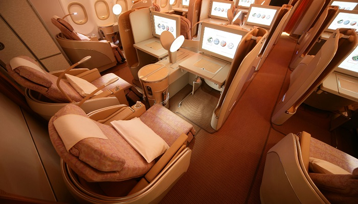 Etihad Airways (Diamond) First Class Kabin