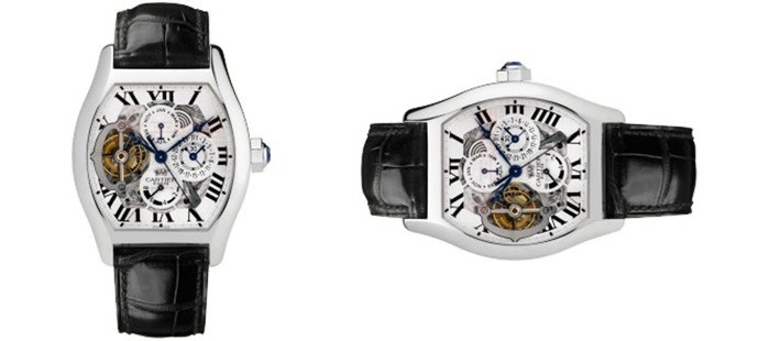 Cartier Extra Large Tortue High Compication Platinum