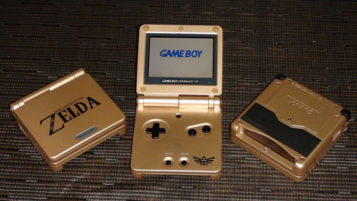 Gold Legend of Zelda Game Boy Advanced SP
